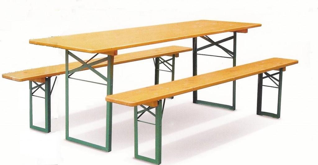Noleggio Set birreria (1 tavolo + 2 panche) - Sistema ...